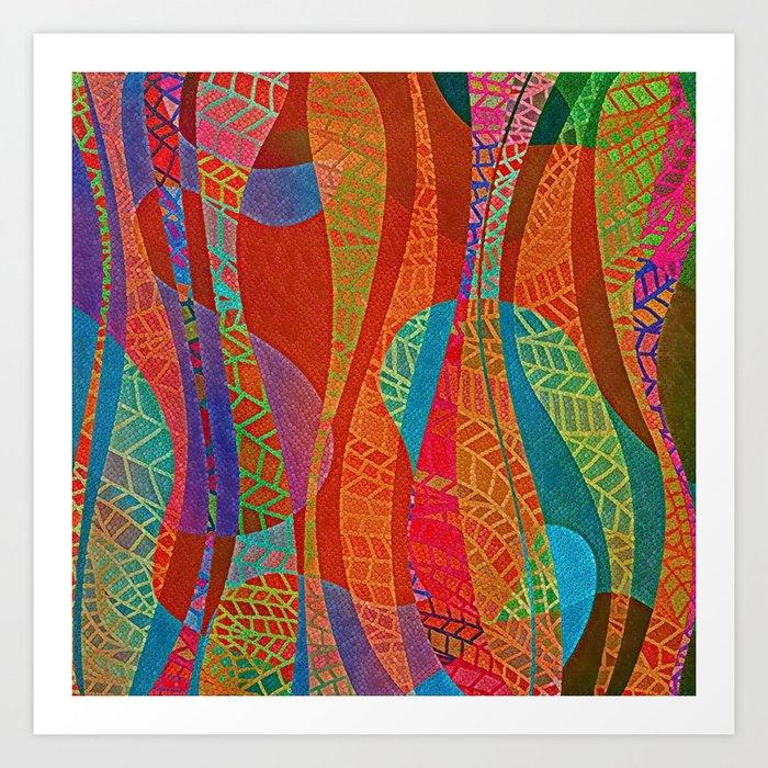 Curvy Lines Art Print