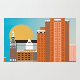 Milwaukee, Wisconsin - Skyline Illustration by Loose Petals Rug