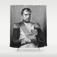 napoleon Shower Curtains featuring Napoleon by Palazzo Art Gallery