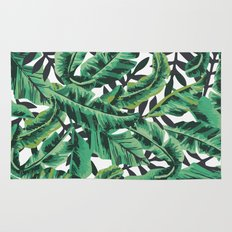 Tropical Glam Banana Leaf Print Rug