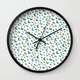 butterflies_yellow Wall Clock