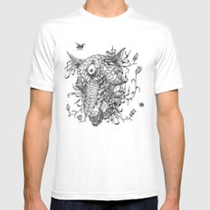 Cycle 1 White Mens Fitted Tee MEDIUM