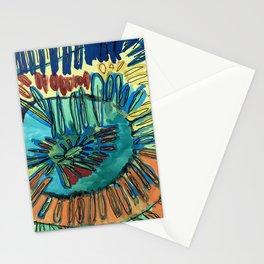 Barbie's Sunflower Illustration Gem Rust Tone Spiral Flower Petals Mendala Stationery Cards