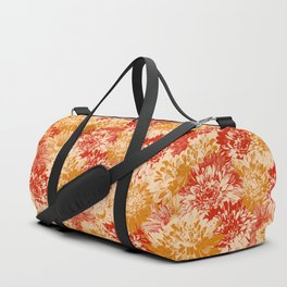 marguerites and chrysanthemums in red and yellow Duffle Bag