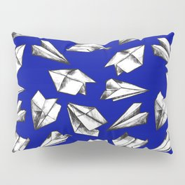 Paper airplane pattern Pillow Sham