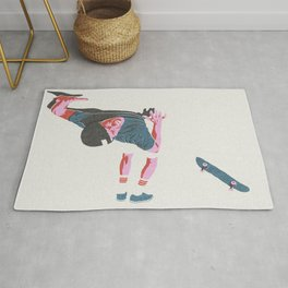 skateboarding 3 (lost time, risograph) Rug