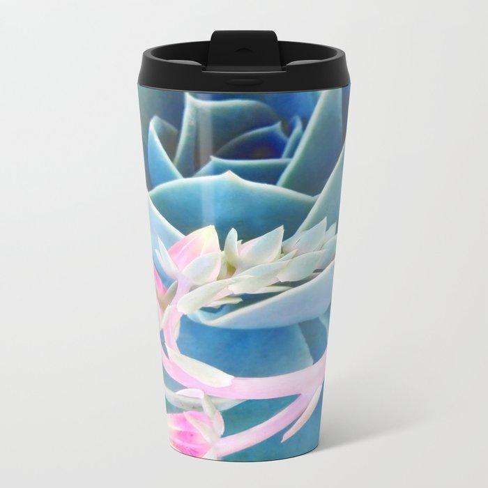 Bold Succulent Metal Travel Mug