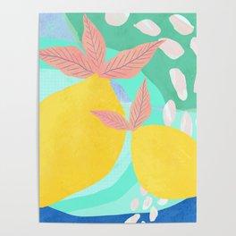 Pink Lemonade - Shapes and Layers no.32 Poster