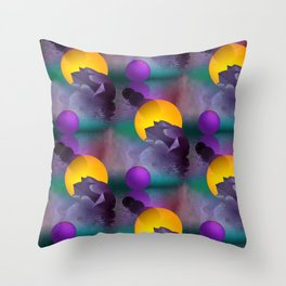 tulips and balls pattern Throw Pillow