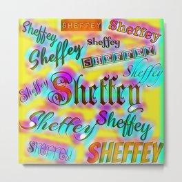 Sheffey Fonts - Yellow and Pink Rainbow 9642 Metal Print