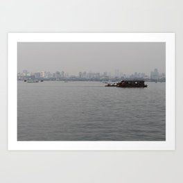 Hangzhou Lake and City Art Print