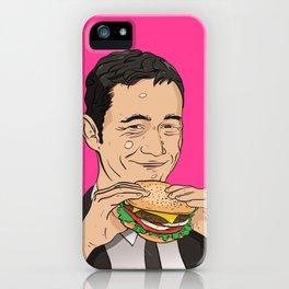 Joseph Gordon Levitt With Hamburger iPhone Case