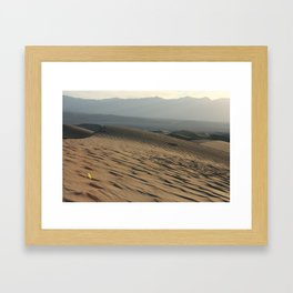 Death Valley   Desert Landscape  Framed Art Print