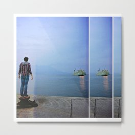 incoming ferry Metal Print