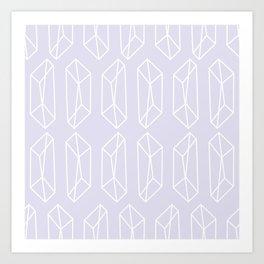 Almost Geometric Jewels Pattern 2 - 1 Art Print