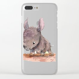 Elephant baby Clear iPhone Case