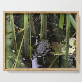 Pond frog Serving Tray