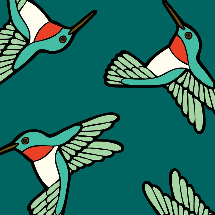 Hummingbird Pattern Leggings