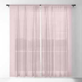 Pink and White Grid /// pencilmeinstationery.com Sheer Curtain