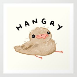 Hangry Chick Art Print