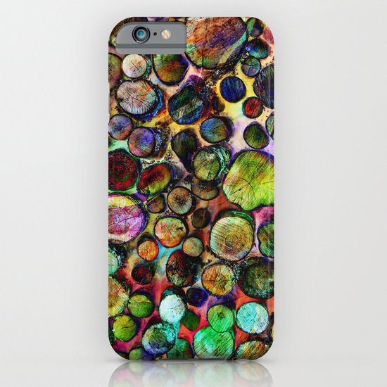 Colored Wood Pile 2 iPhone & iPod Case