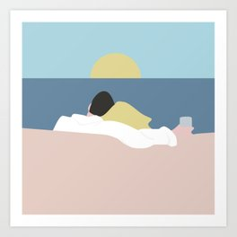 Feelings into sunset Art Print