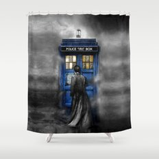 Tardis doctor who lost in the Mist apple iPhone 4 4s 5 5s 5c, ipod, ipad, pillow case and tshirt Shower Curtain