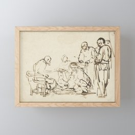 Rembrandt - The Washing of the Feet Framed Mini Art Print