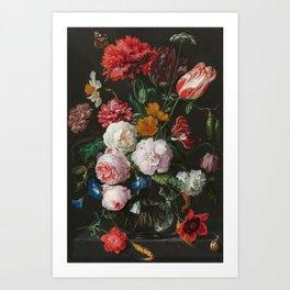Still Life with Flowers by Jan Davidsz. de Heem Art Print