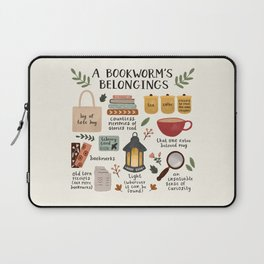 A Bookworm's Belongings Laptop Sleeve