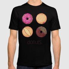 Donuts MEDIUM Mens Fitted Tee Black
