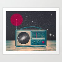 radio Art Prints featuring Space Radio by Victor Vercesi