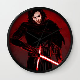 Kylo Ren in Red Wall Clock