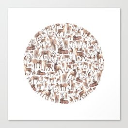 Deer Circle Canvas Print