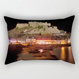 Jersey Night Castle - Mont Orgueil Rectangular Pillow