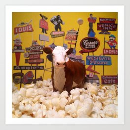The Omaha Hereford & The Vintage Signs Art Print