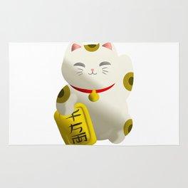 Lucky Cat White Rug