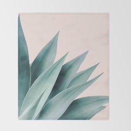 Agave flare II - peach Throw Blanket