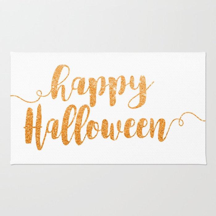 Happy Halloween | Orange Glitter Rug