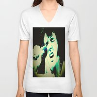 elvis presley V-neck T-shirts featuring Elvis Presley by SLIDE
