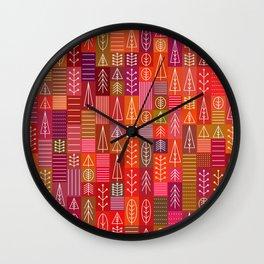 Random Trees Color 1 Wall Clock