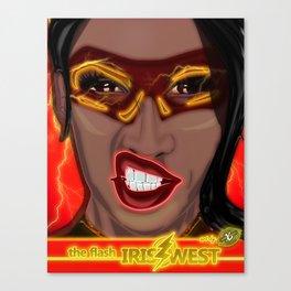 XSuperModels-IrisFlashWestPop-Portrait Canvas Print