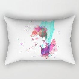 Breakfast In Watercolor Rectangular Pillow