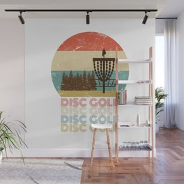 Disc Golf Discgolf Vintage Design Wall Mural