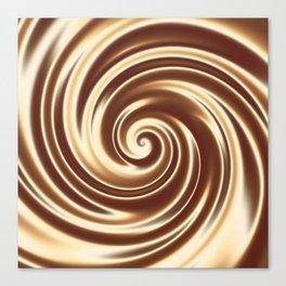 Chocolate milk cocktail spiral Canvas Print