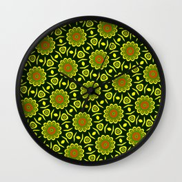 Cute ethnic floral pattern Wall Clock