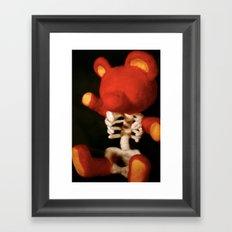 Teddy Bare Bones Framed Art Print