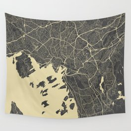 Oslo Map Wall Tapestry