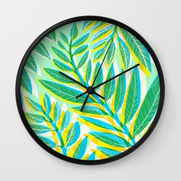 Jungle Vines - Vertical Green Palette Wall Clock