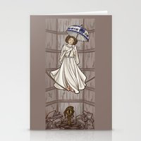 hallion Stationery Cards featuring Leia's Corruptible Mortal State by Karen Hallion Illustrations